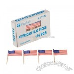 American Flag Picks 1 pack of 144