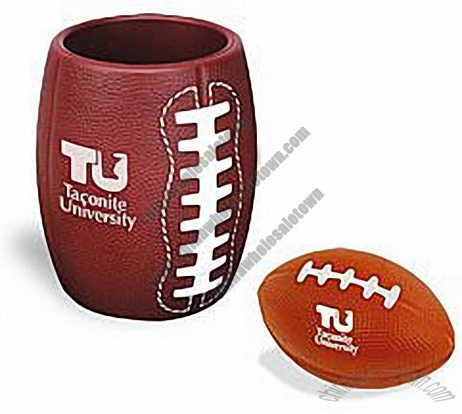 best cheap 39bb5 677f0 American Football Stressball In Can Holder, PU Can Holder ...
