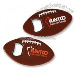 American football shaped plastic bottle opener
