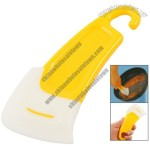 Amico Cleanning Tool Yellow Handle White Silicone Scraper for Frying Pan