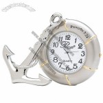 Anchor and Life Preserver Desk Clock