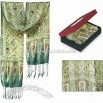 Ancient Java Green Silk Scarves