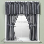 Andre Stripe Blue Window Curtain Valance