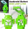Android Robot Desk Lamp & Fan Combo