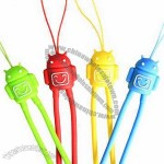 Android Silicone Hand Wrist Strap for Lanyard Mobile Phone