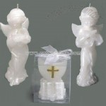 Angel and Cross Cup Candle