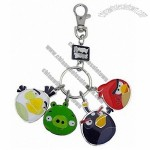 Angry Birds - Metal Keychain with Charms