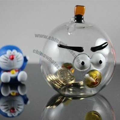 Angry Birds Glass Piggy Bank