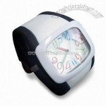 Anion Silicone Rubber Wristband Digital Watch