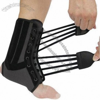 Ankle Brace, Tied Up with 2 Stripe Hook-and-loop