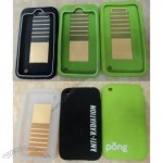 Anti-radiation Silicone Cell Phone Case for iPhone 4G / 3G