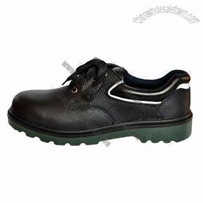 Anti-skid Men's Work Shoe, Made of Leather and Rubber