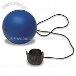 Anti-stress ball with elastic cord
