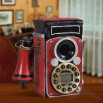 Antique Camera Shaped Landline Corded Telephones