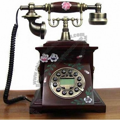 Antique Classic Solid Wood Telephone