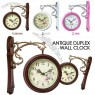 Antique Style Double Sided Interior Wall Clock