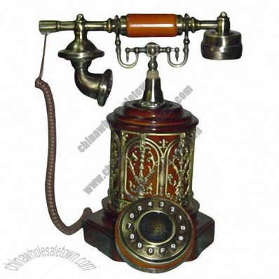 Antique Style Wooden Telephone