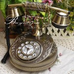 Antique Telephone Made of Zinc Alloy