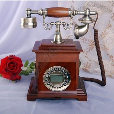 Antique Wooden Telephone for Home Decor