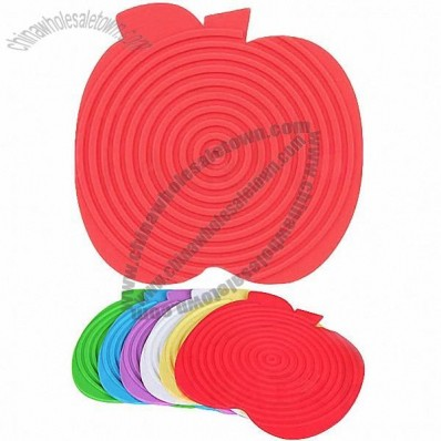 Apple Shape Silicone Table Top Protector Mat PotHolder