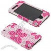 Apple iPhone 3GS 3G Pink Daisy Full Rhinestone Hard Case