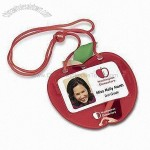 Apple-shaped Badge Holder
