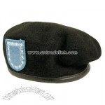 Army Black Beret with Flash