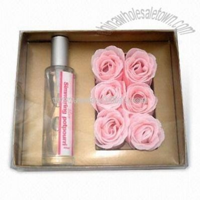 Aroma Gift Box with 6 Pieces of Paper Soap Flower