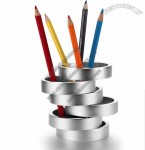 Art Aluminum Alloy Pen Holder
