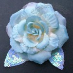 Artificial Flower Brooch with Sequin