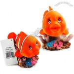Artificial Gas-operated Action Clown Fish Aquarium Resin Decorations