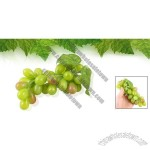 Artificial Green Plastic Grape Home Desk Fruit Ornament