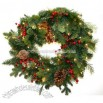 Artificial Pre-Lit Christmas Wreath - 30-Inch