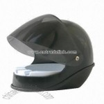Ashtray in Motorcycle Helmet Design