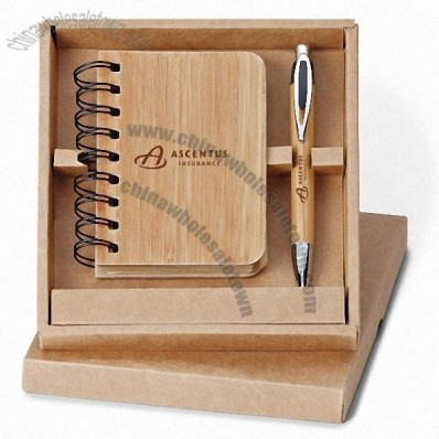 Asia Pen and Bamboo Jotter Set