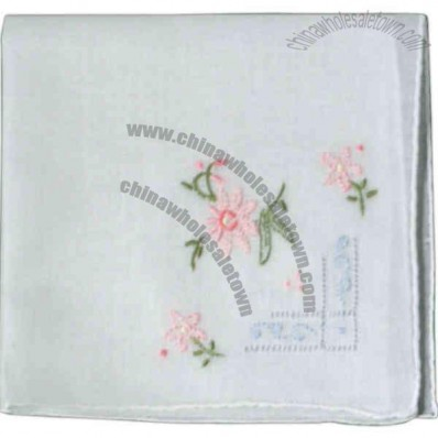 Assorted Ladies Hankie Made Of Cotton, 12