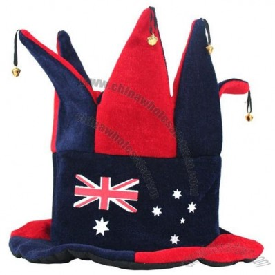 Aussie Jester Hat - Blue and Red
