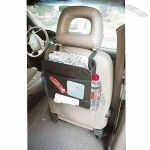 Auto Backseat Litter Bag with Mesh Pocket and Drink Holders