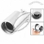 Auto Car Dual Layer Adjustable Clamp On Type Exhaust Muffler Tip Silver Tone