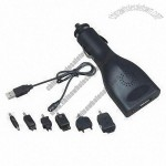 Auto Charger, Suitable for Cellphone, MP3 Player, PDA, GPS and iPod