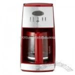 Automatic Drip Coffeemaker - Red/ Chrome