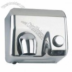 Automatic Hand Dryer With Manual Button, Made Of 304 Stainless Steel
