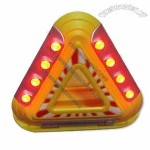 Automobile Triangle LED Roadside with Magnetic and Adjustable Hinges
