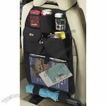 Automotive Back Seat Organizer - Uses adjustable buckle attachment system