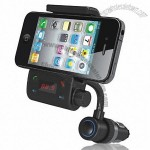 Automotive Bluetooth Handsfree FM Transmitter with Universal CellPhone Holder