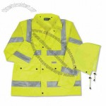 Aware Wear Hi-Viz Raincoat - Lime