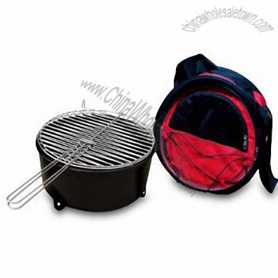 BBQ Grill with Insulated Cold Storage Chamber and Durable Heavy Gauge Steel