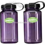 BPA free reusable water bottle with wide mouth and screw top
