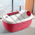 Babies' Bathtub with Gentle Air Bubble and Soft Jacuzzi