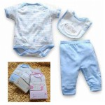Babies' Gift Set Made of 100% Combed Cotton Material